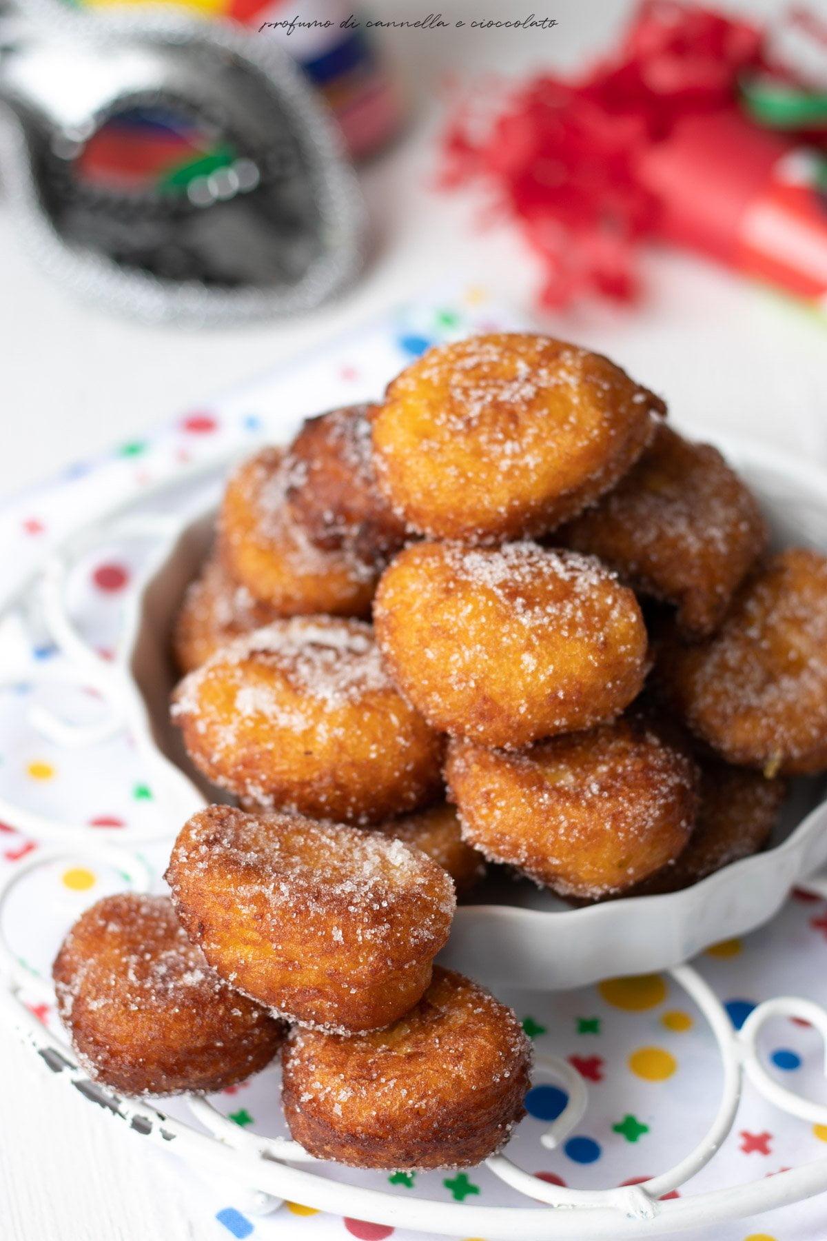 Frittelle di polenta dolci