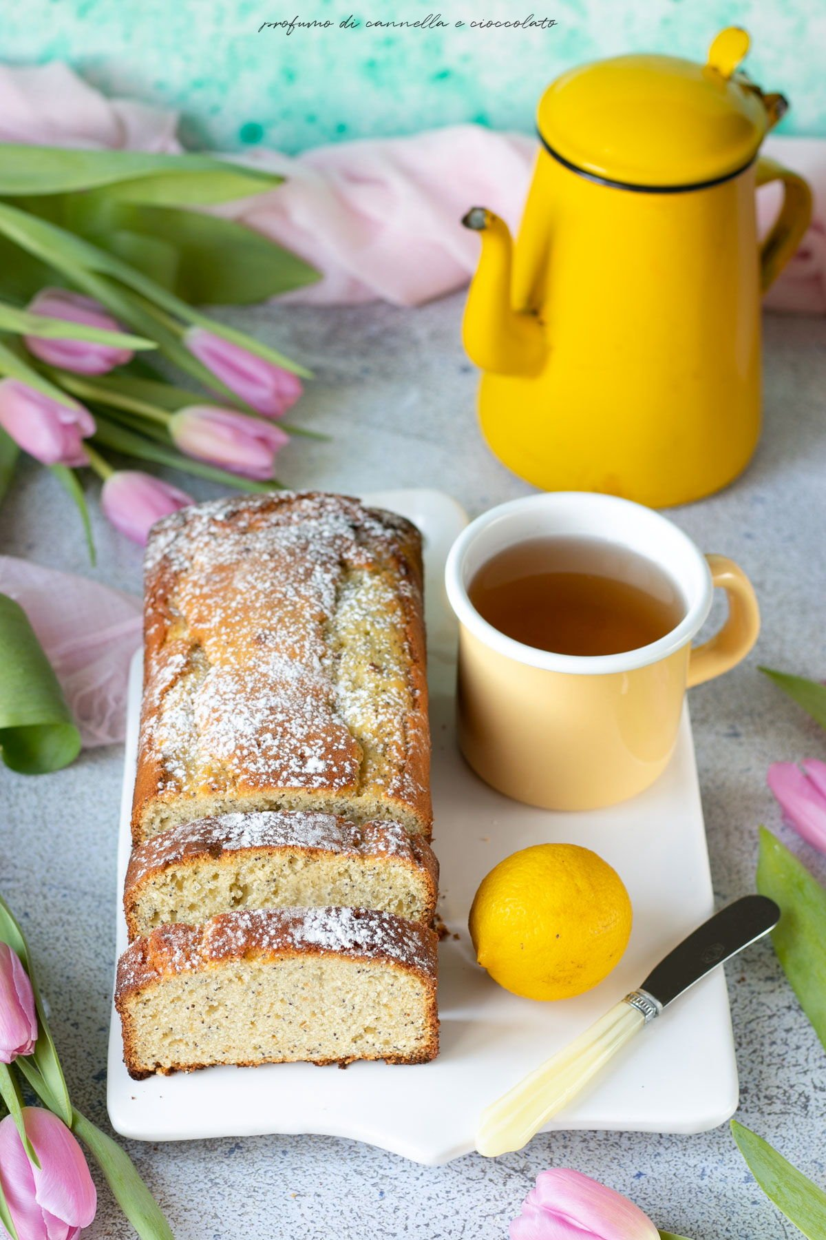 Plumcake limone miele e semi di papavero