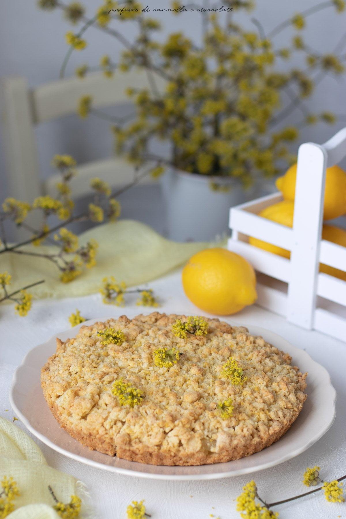 sbriciolata con crema al limone