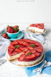 Cheesecake senza cottura alle fragole