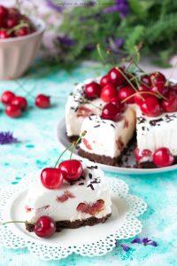 Cheesecake senza cottura alle ciliegie