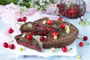 Black forest bakewell tart