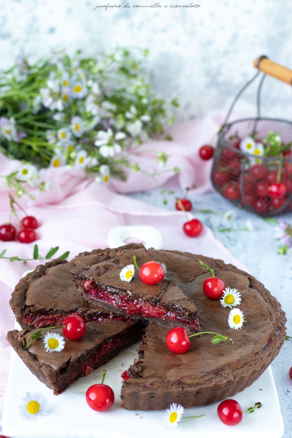 Black forest bakewell tart