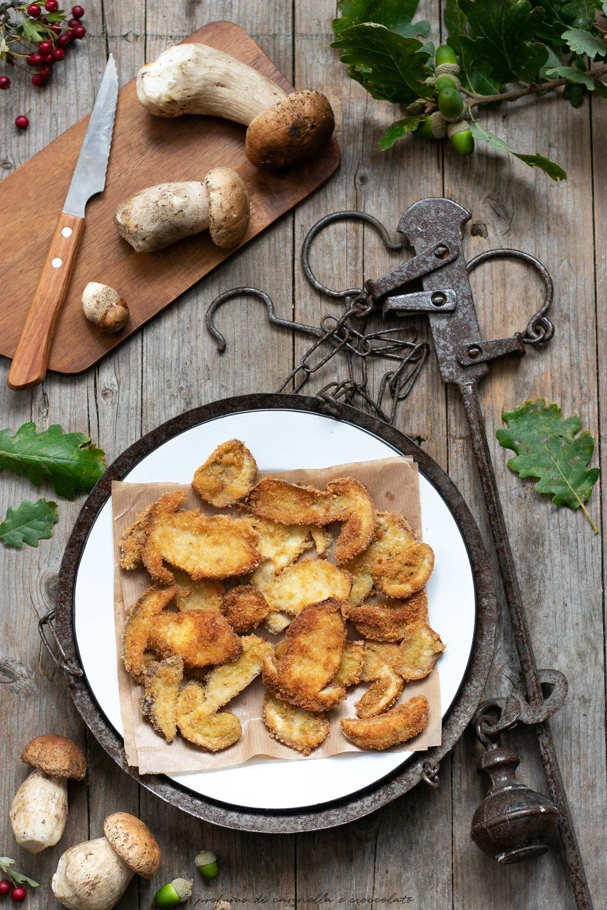 Funghi porcini impanati e fritti
