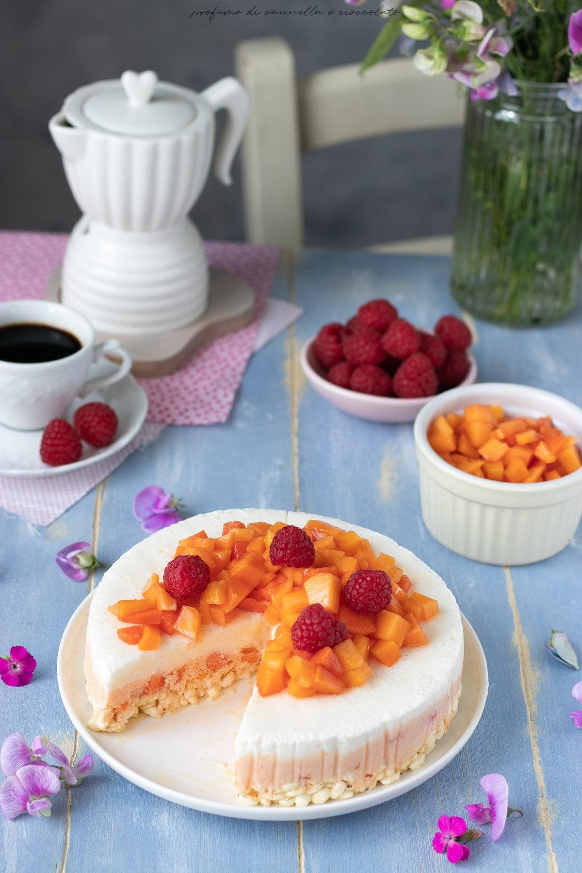 Torta gelato alla papaya