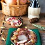 Filetto di maiale al melograno con cipolle borettane