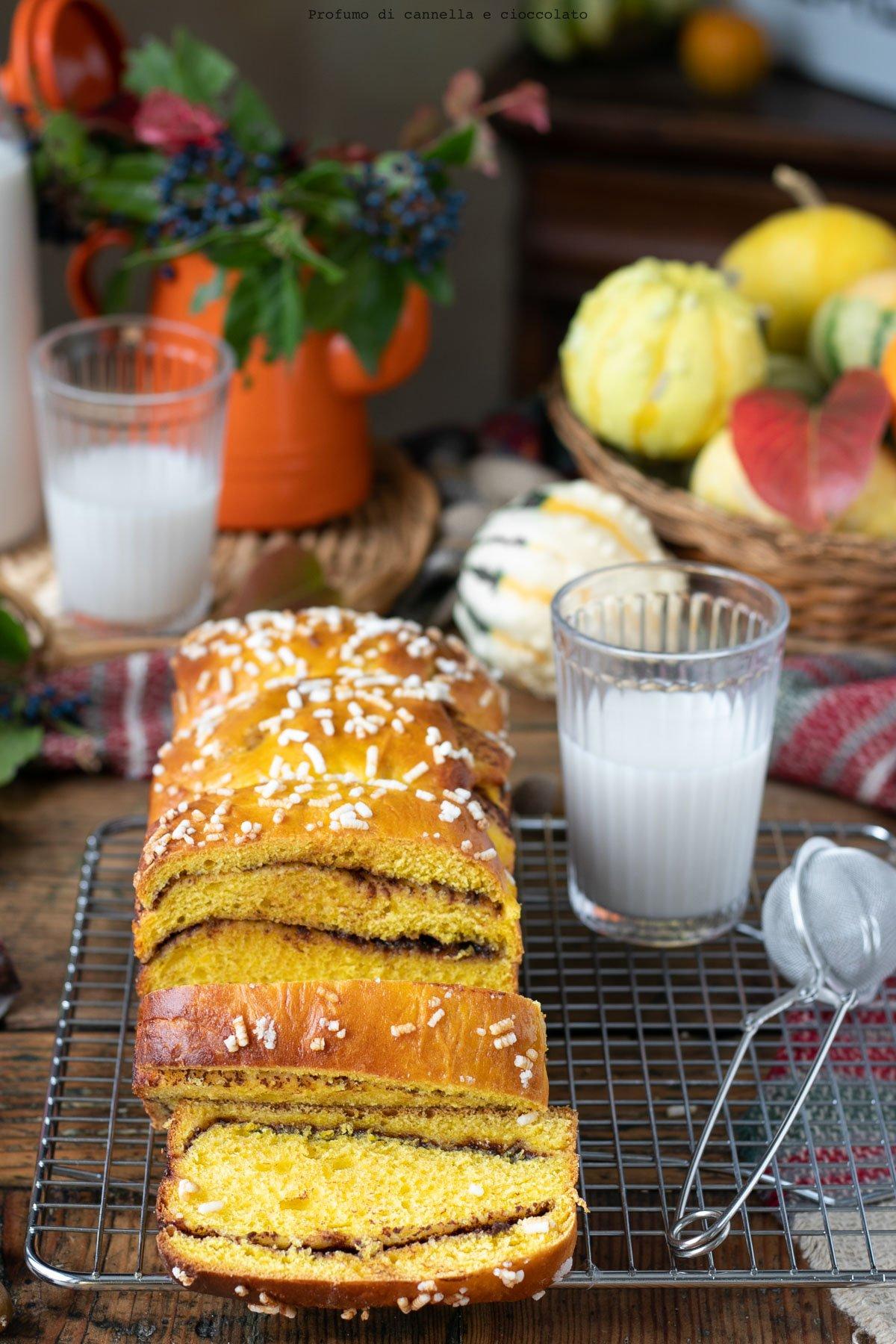 Pan brioche alla zucca e nutella