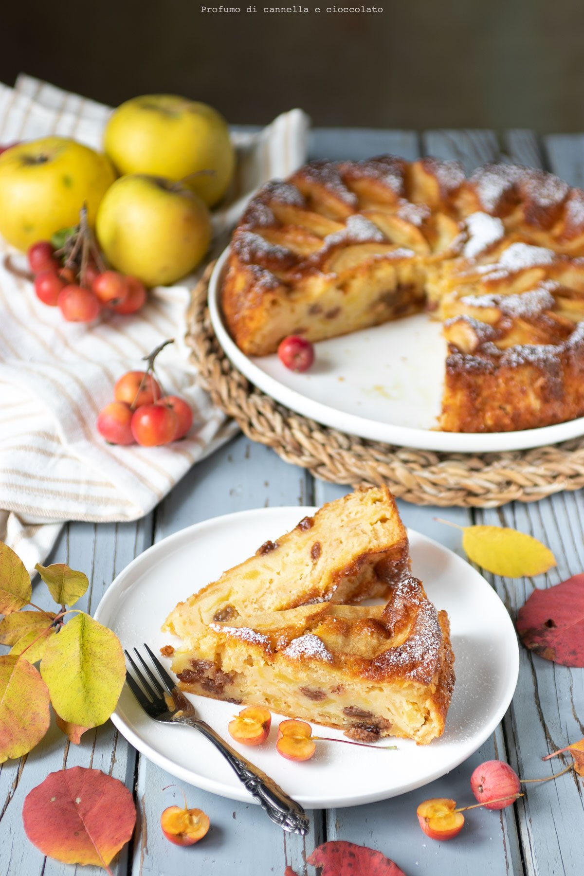 Timballo di mele e uvetta