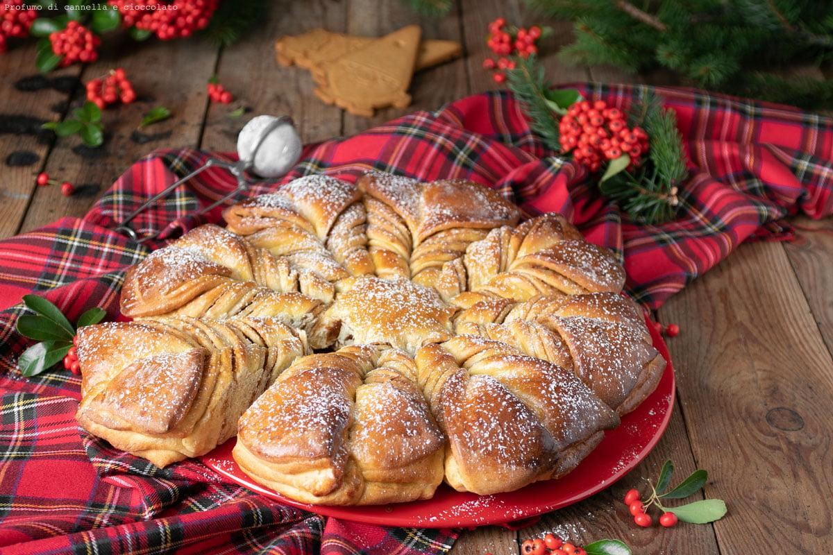 Stella di pan brioche con crema speculoos
