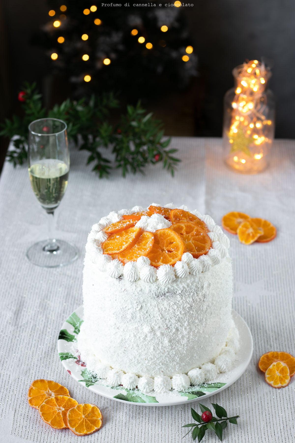 Torta panettone farcito cocco e arancia