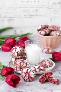 Crinkle cookies con cioccolato ruby