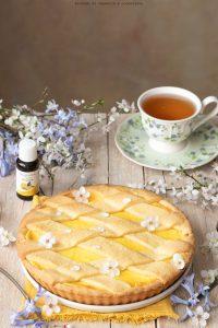 Crostata con crema pasticcera al limone e marmellata