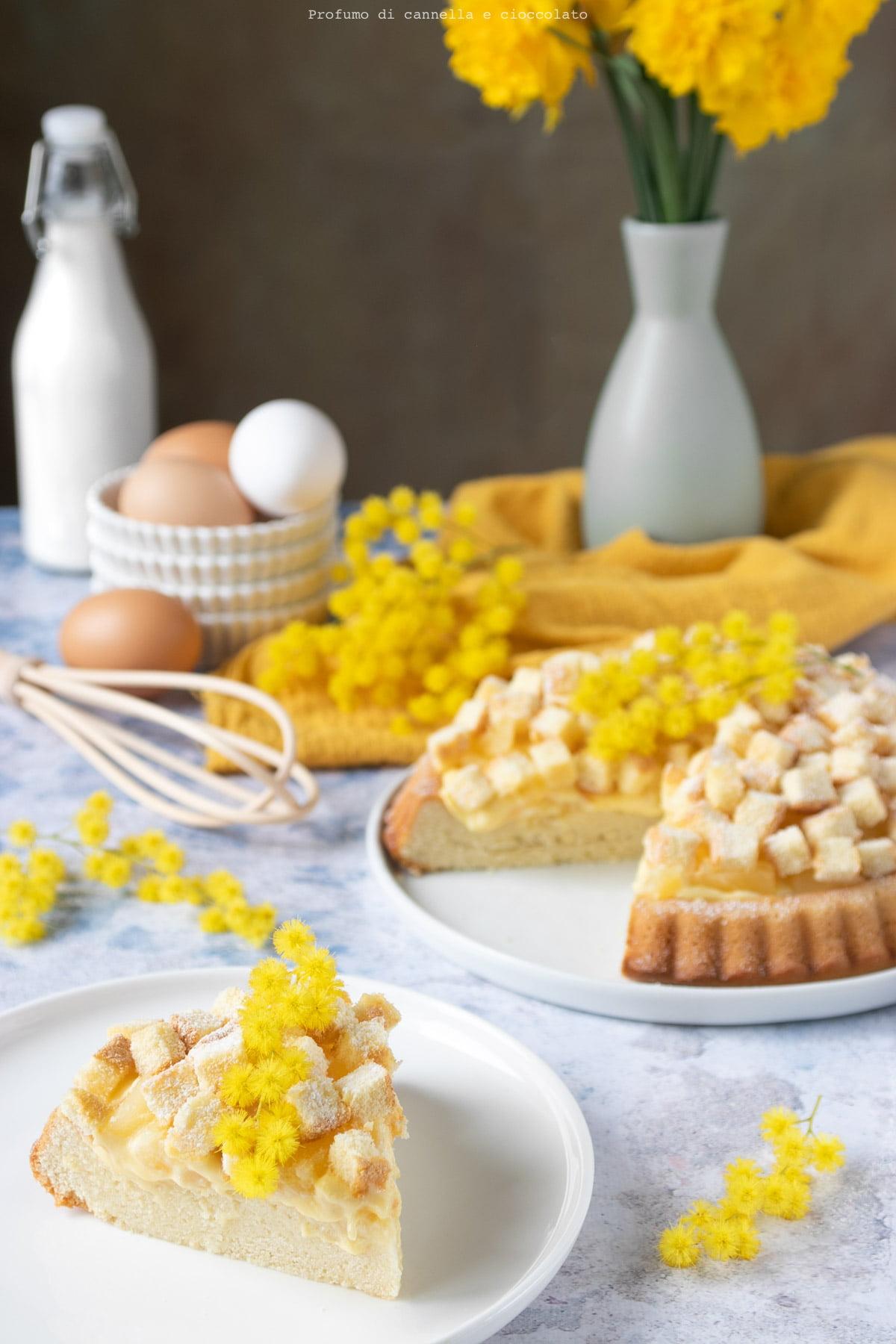 Crostata mimosa soffice