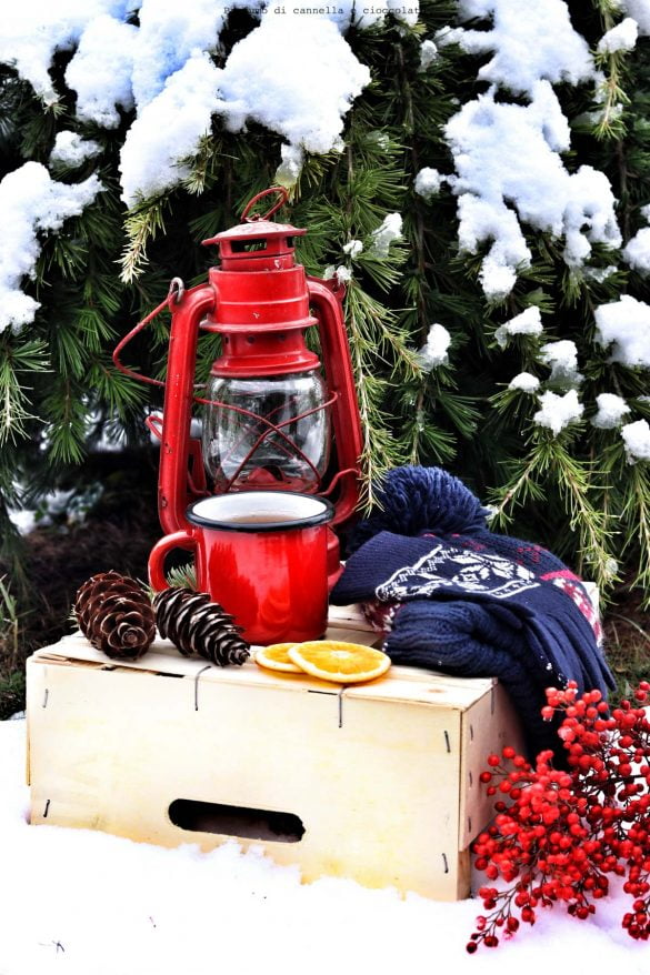 Lanterna e neve