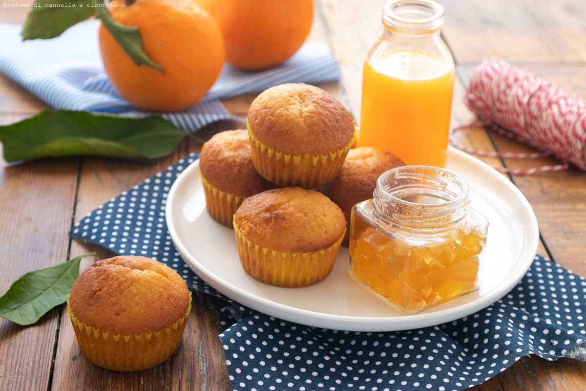 Tortine con marmellata d'arance