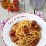 Spaghetti con pomodorini confit