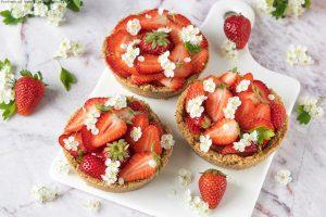 Crostatine senza cottura alle fragole