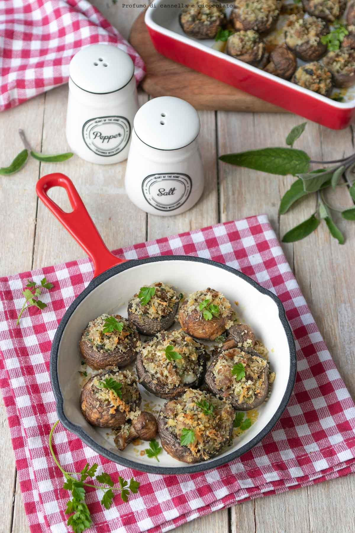 Funghi ripieni vegetariani
