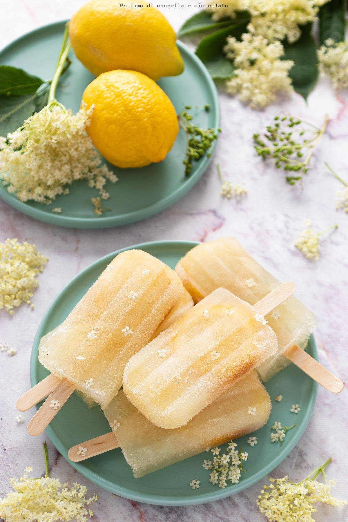 Ghiaccioli sambuco e limone