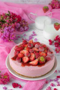 Cheesecake senza cottura ai frutti di bosco