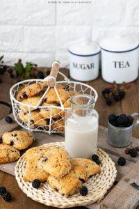Biscotti rustici zucchero di canna e more