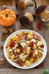 Gnocchi di patate con zucca e porcini