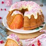 Candy cane bundt cake