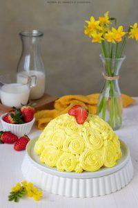 Zuccotto con crema al mascarpone e fragole