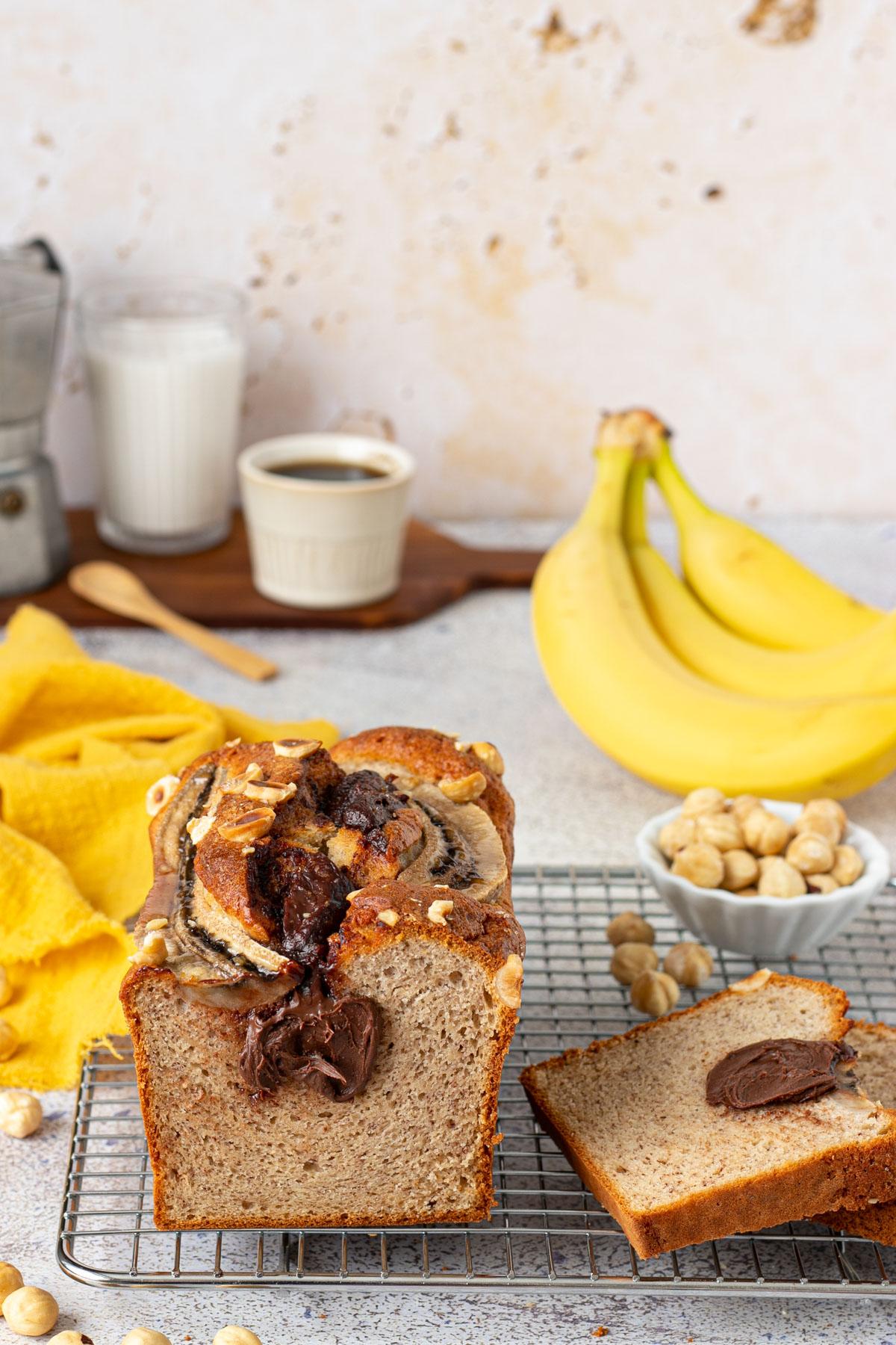 Banana bread con soli albumi