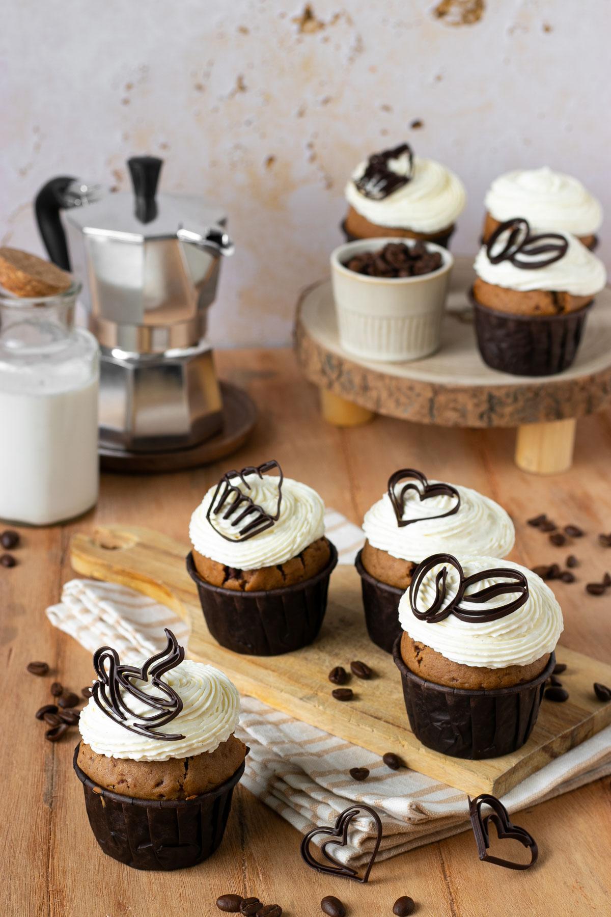 Cupcake al caffè e cioccolato