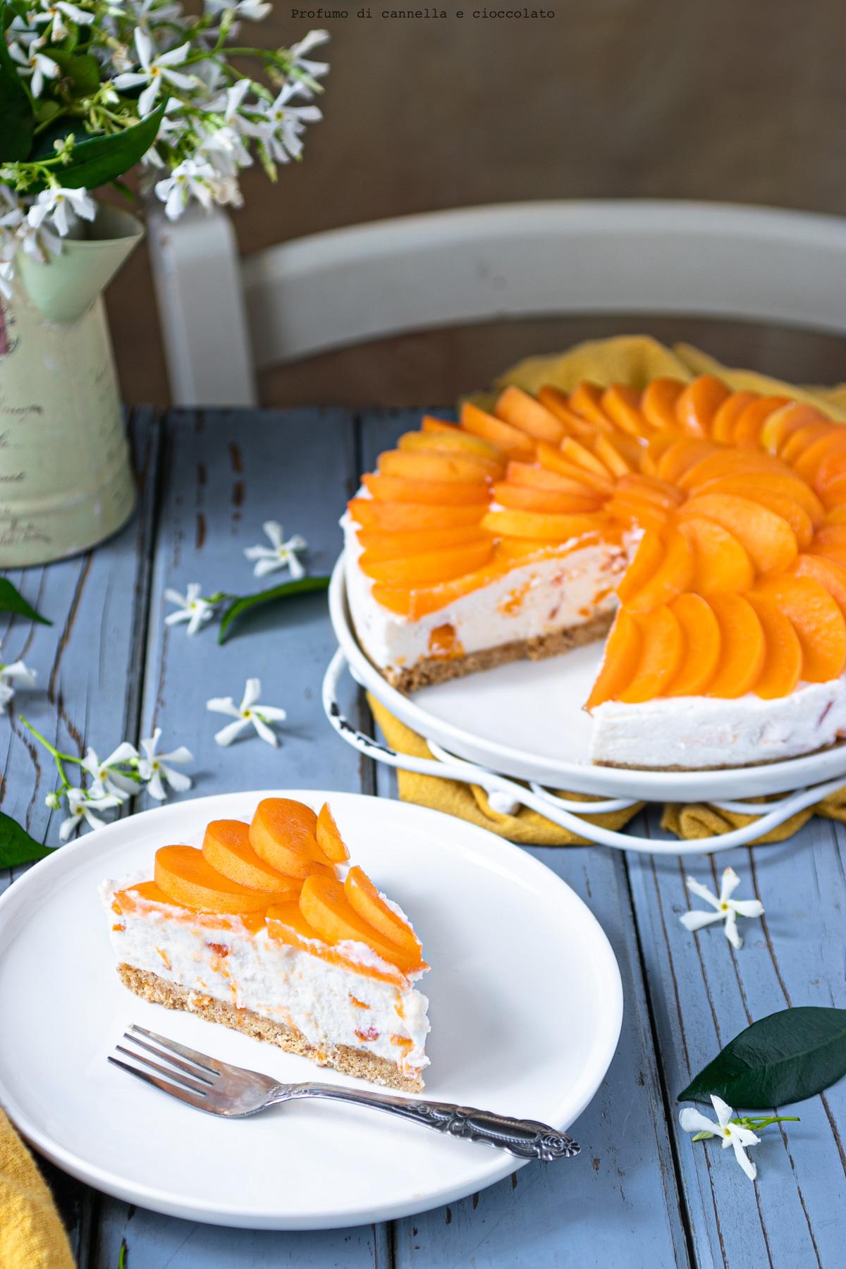 Cheesecake senza cottura alle albicocche