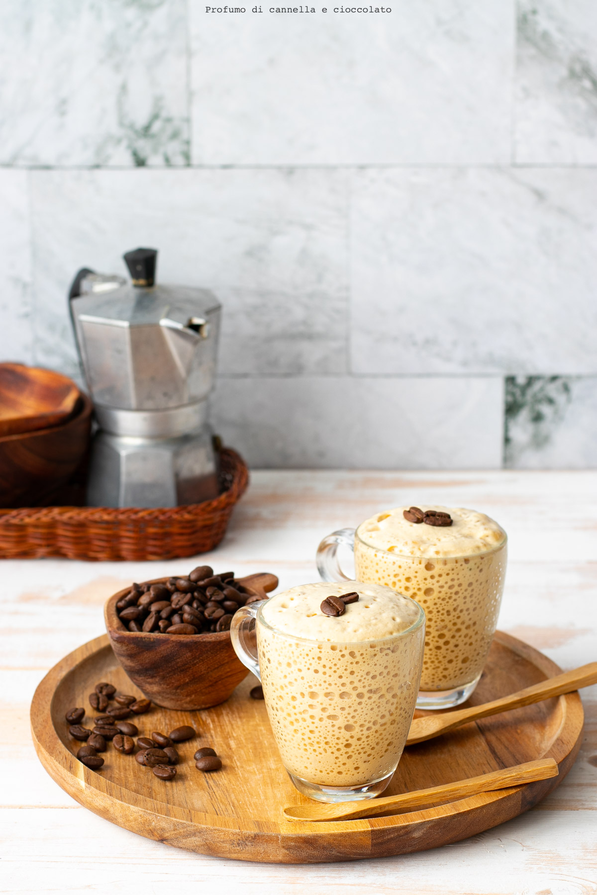 Spuma al caffè senza lattosio