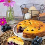 Torta soffice all'uva fragola